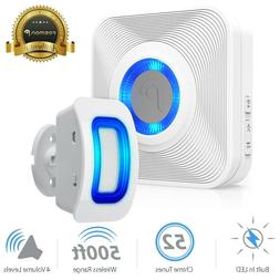 Home Security Wireless Driveway Alarm Doorbell Garage Motion