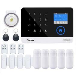 Home Security Wireless WIFI GSM 3G GPRS Alarm System APP Rem