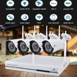 Home Surveillance Security Camera System 1TB HDD Wireless WI