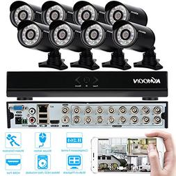 KKMOON Home Surveillance Security Camera System CCTV Kit wit