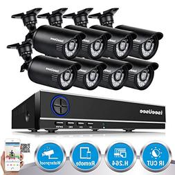 ISEEUSEE 720P Home Video Surveillance System 8 Channel 1080N