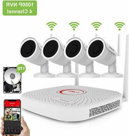 Home Wireless Security Camera System Outdoor 1080P 4 or 8 CH