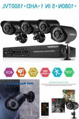 House Security Camera System Home FLOUREON 1080N DVR + 4 Pac