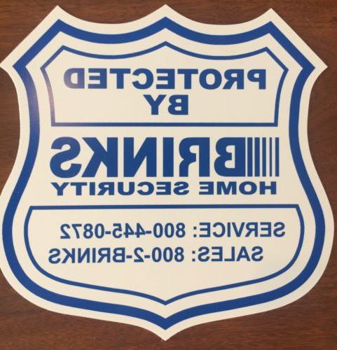 1 HOME SECURITY YARD SIGN ADT BRINKS 50% OFF - Scratched - s