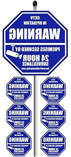 "1 ""REAL"" CCTV Security Camera Home Alarm Yard Sign  with 36"""