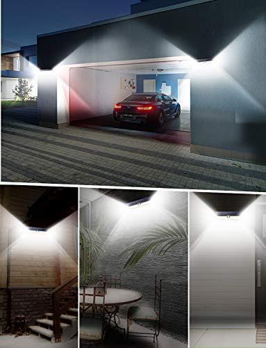 LITOM Enhanced 102 LED Super Bright Outdoor, Solar Lights Angle, Lights Door, Yard, Deck