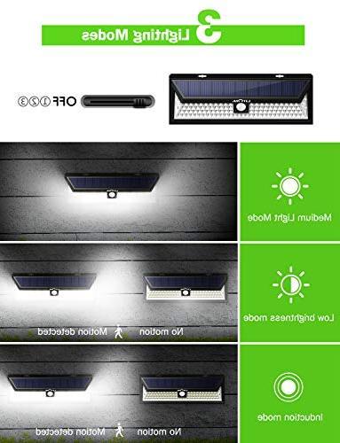 LITOM Enhanced Super Bright Solar Outdoor, Solar Lights 270°Wide IP65 Waterproof, Easy-to-Install Lights Yard, Deck