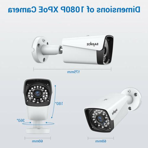 SANNCE 4CH PoE Outdoor Security Network P2P