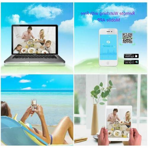 ZooHi Security Camera System Wireless CCTV 4CH 1TB