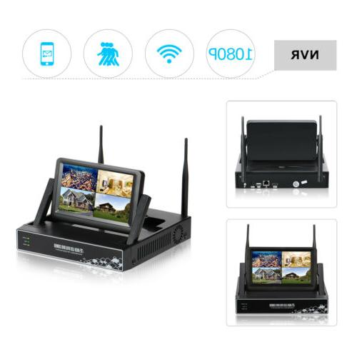 """1080P HD Security System Camera 7""""Monitor"""