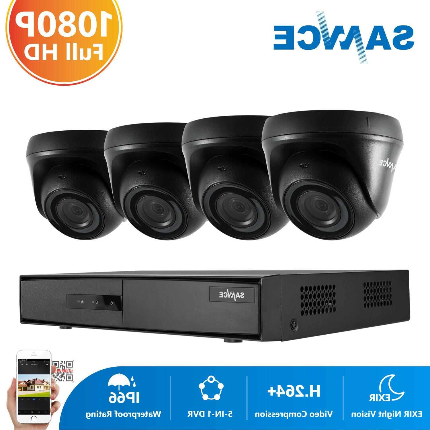 SANNCE 4CH 1080P CCTV DVR 3000TVL HD IR Outdoor Home Securit