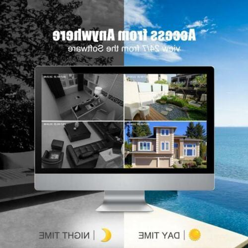 1080P Wireless Security System Outdoor Home HD