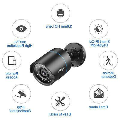 SANNCE CCTV Home Security Camera Vision Weatherproof CUT