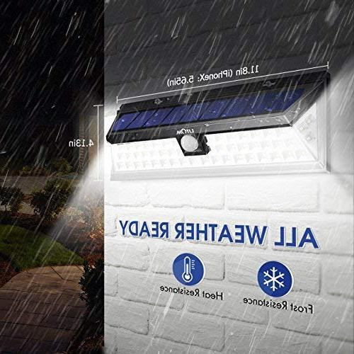 LITOM Lights LED Super Bright Plating Lights with Solar Powered Lights Front Yard,