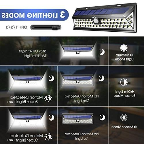 LITOM Enhanced Lights Super Solar Lights with Motion Solar Powered Security Lights for Front Yard,