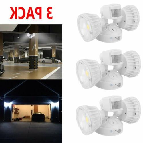 3x Home Security LED Flood Light Motion Activated Lamp For E