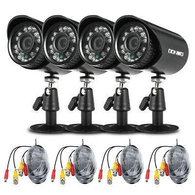4CH 1080P CCTV DVR System Home Outdoor 1500TVL Camera CMOS S
