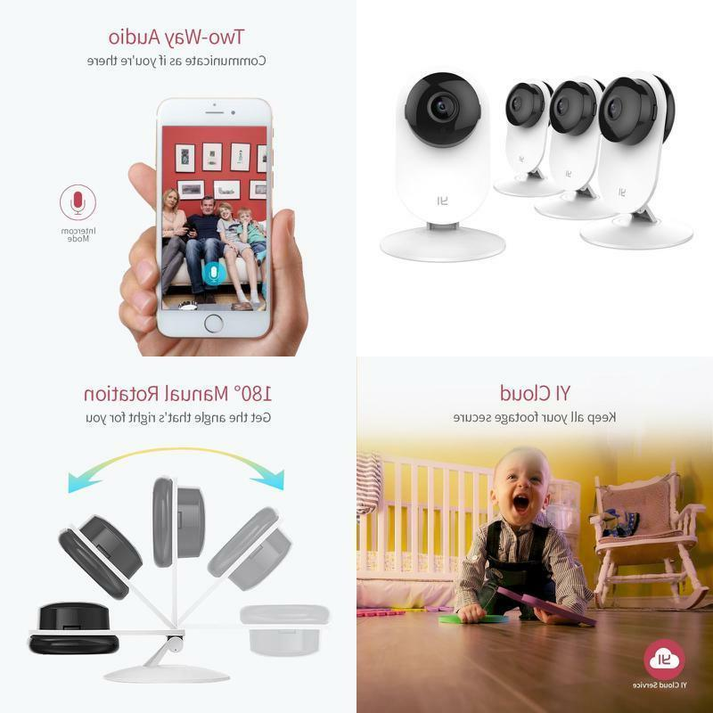 4 Home Camera Wireless IP Security Surveillance System Night