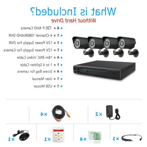 Anspo 4 PACK 4in1 HD CCTV Home