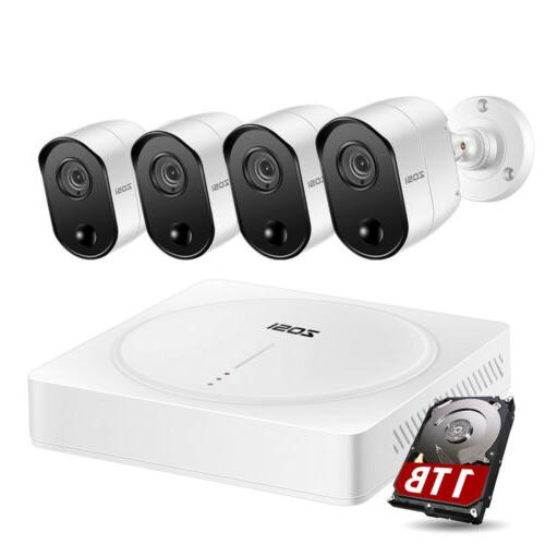 ZOSI 5MP Ultra HD Security Camera System 1TB HDD 4 Channel D