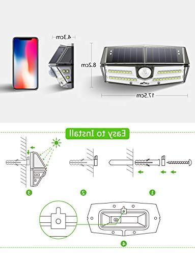 LITOM Premium 40 Optional Sensor Light with Wide Waterproof, Easy-to-Install Security Light for Front