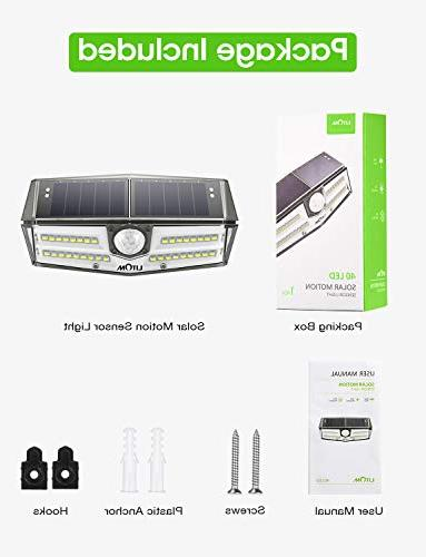 LITOM Premium Solar Sensor with Wide IP67 Easy-to-Install Light for Front Garage, Deck-4 Pack