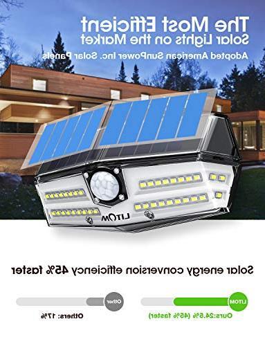 LITOM Solar Optional Motion Sensor 270° Wide Easy-to-Install Security