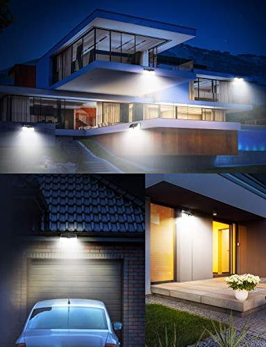LITOM Premium Solar Lights Optional Sensor Light with 270° Wide IP67 Waterproof, Easy-to-Install Light Front