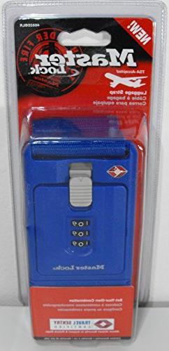 Master Lock 4682DBLR TSA-Accepted Locking Luggage Strap, 78-