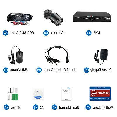 SANNCE DVR HD Outdoor Security System APP
