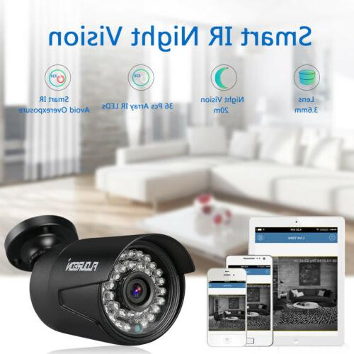8CH AHD DVR 4x 3000TVL P2P CCTV Video Security System