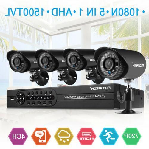 4CH 1080N HDMI DVR 4x IR Home Security System