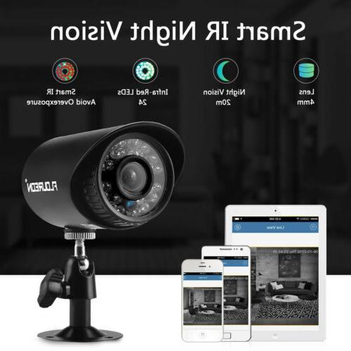4CH 1080N HDMI DVR 4x 1500TVL HD IR CCTV Video Security