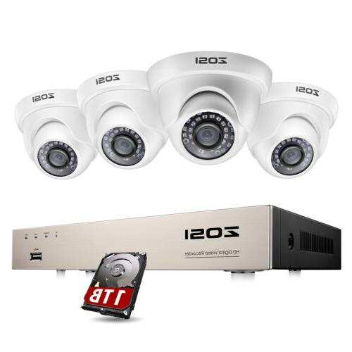 4ch 1080p dvr 2mp outdoor home security
