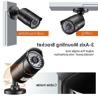 ZOSI 4CH DVR Outdoor Home Cameras System IR Cut