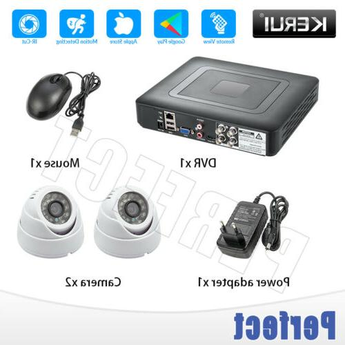 4ch dvr cctv home security camera system