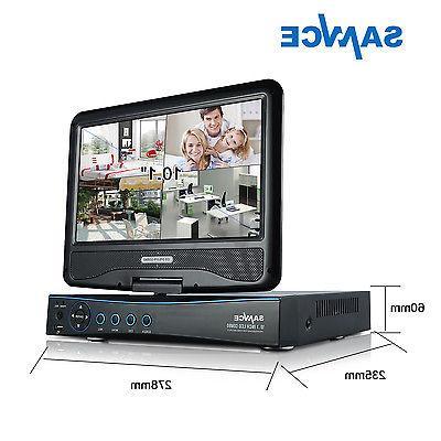 SANNCE 4CH 1080N DVR LCD 1500TVL Outdoor IR Home Security System