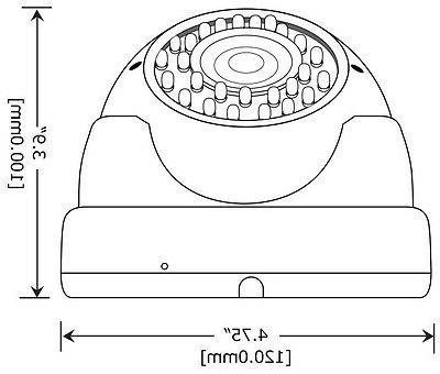 4pcs 2.8-12mm Vari Surveillance Security Camera