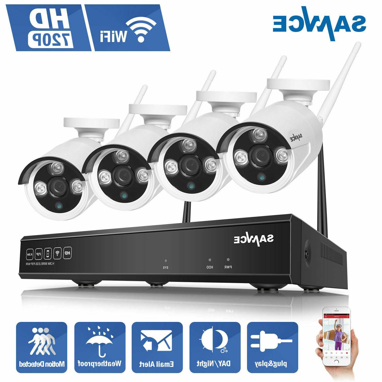 SANNCE 4CH NVR Wireless WIFI Network Camera System