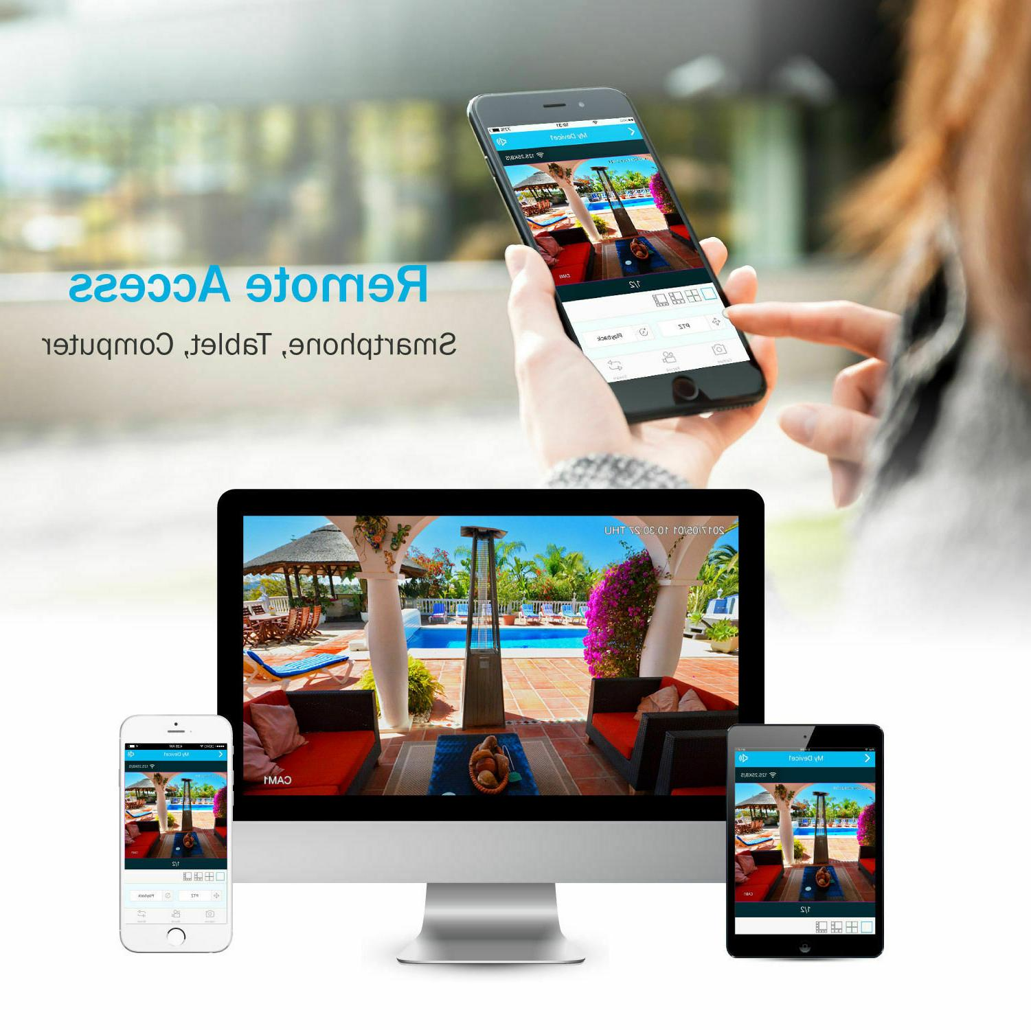 SANNCE Wireless WIFI IP Camera Outdoor Home System
