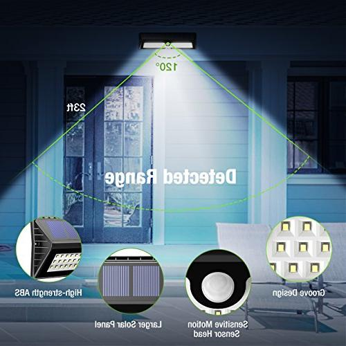 Litom 77 Solar Sensor Security Light Waterproof Wall Deck, Shed, Walkway, Step