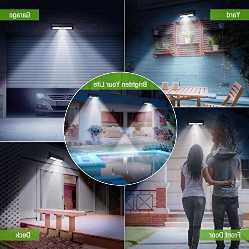 Litom 77 Bright Lights Solar Security Light Wireless IP65 Waterproof Wall for Door, Deck, Step
