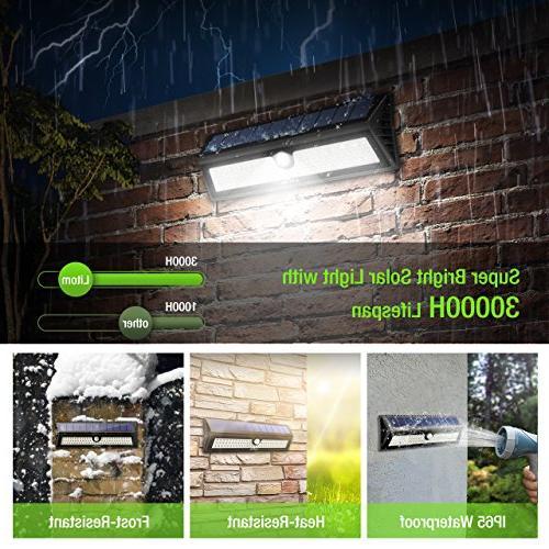Litom 77 LED Bright Solar Solar Light Wireless Waterproof Wall Door, Yard, Garage, Deck, Shed, Step