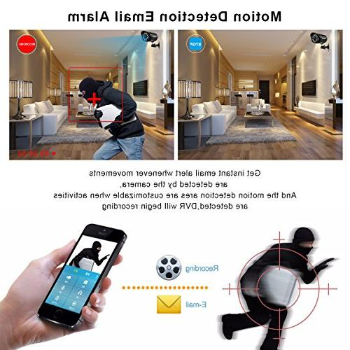 floureon 8 CH Camera 1080N AHD Outdoor/Indoor Bullet Home 1500TVL 720P 1.0MP Resolution House/Apartment/Office