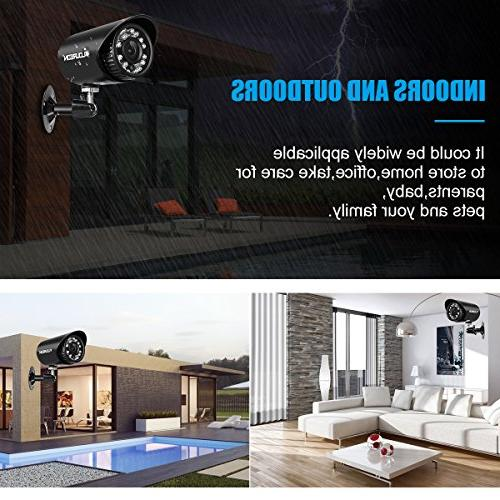 floureon House Camera System AHD 4 Bullet Home Security 1500TVL Resolution Version House/Apartment/Office