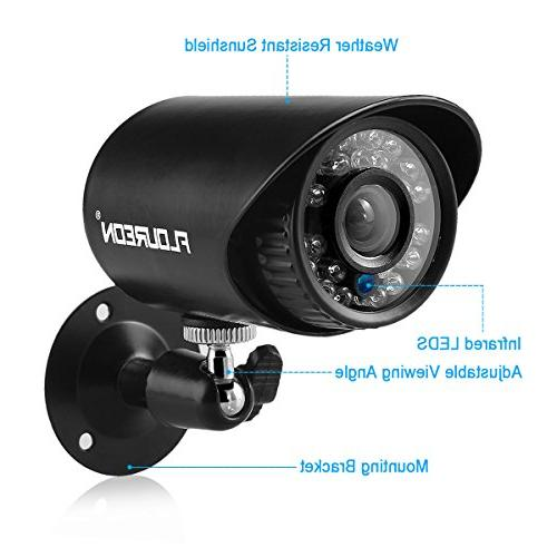 floureon Camera System DVR AHD Bullet 1500TVL Resolution House/Apartment/Office