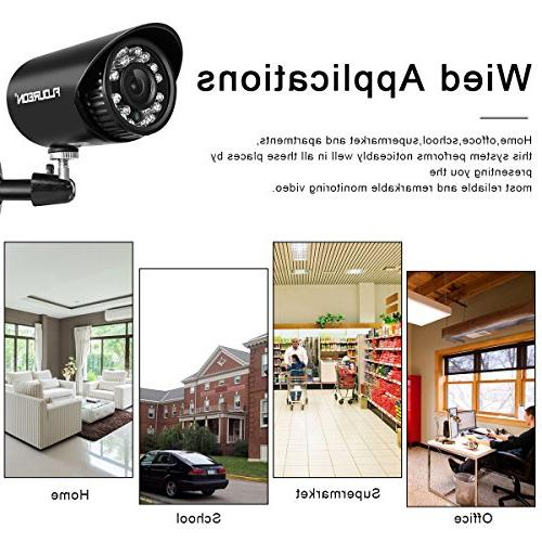 floureon 8 CH Camera AHD 4 Outdoor/Indoor Bullet Home Security 1500TVL 720P AHD Resolution Night House/Apartment/Office