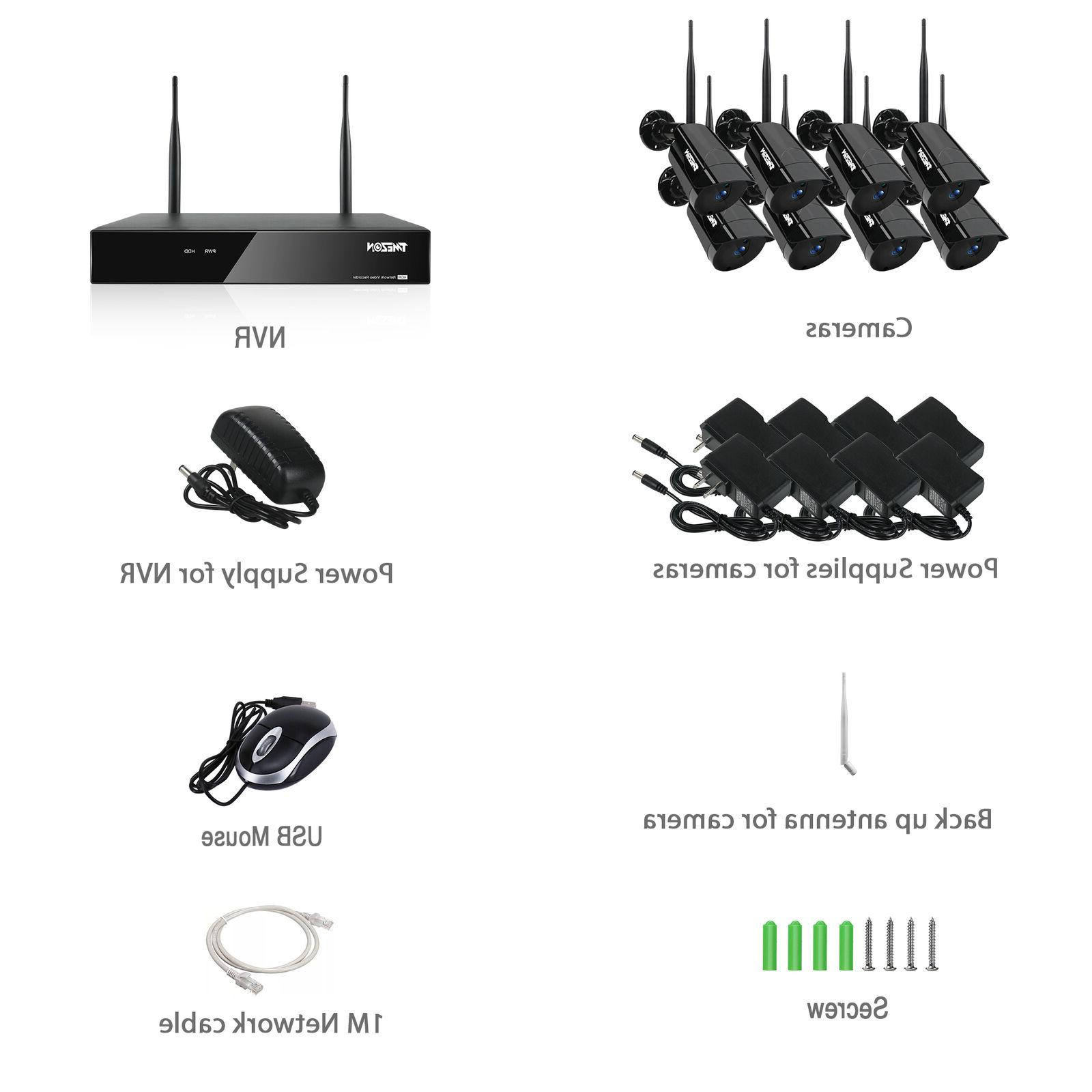 TMEZON 8CH Wireless IP System