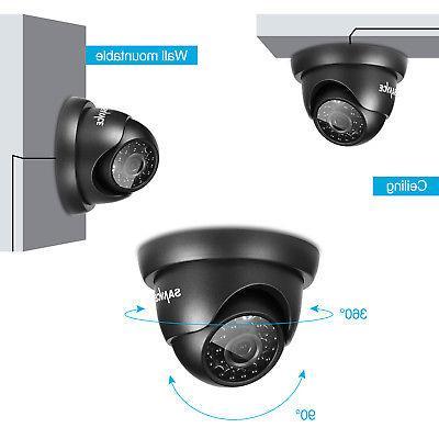 SANNCE 8CH DVR 1500TVL CCTV Vision 1T