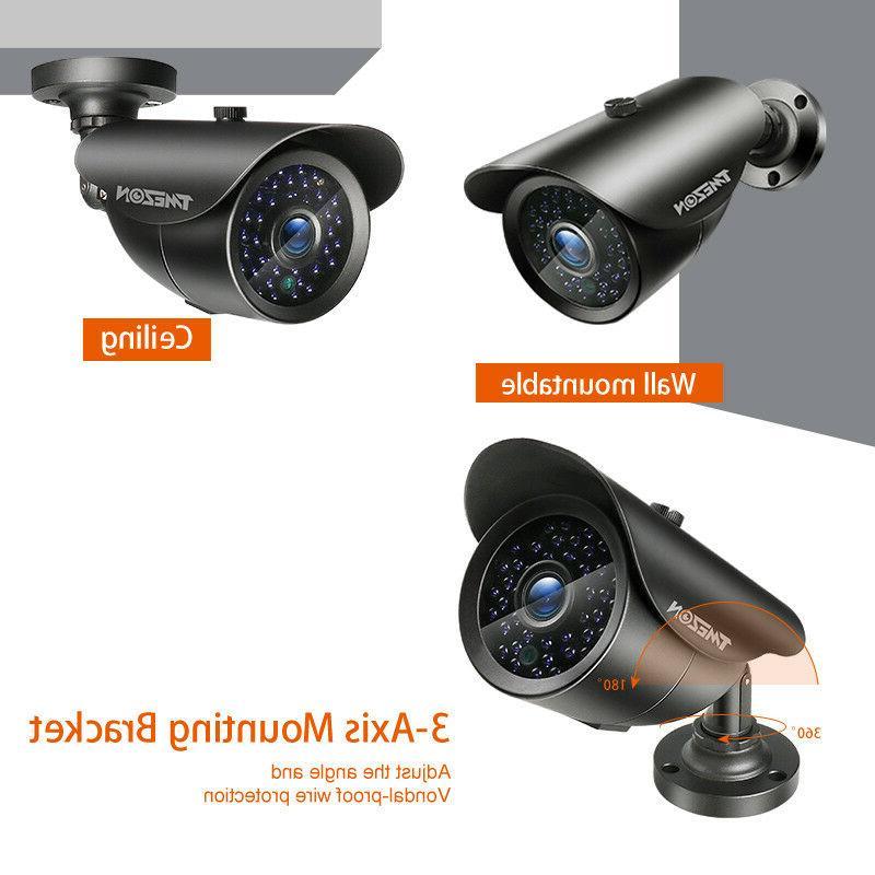 TMEZON 5IN1 DVR 2.0MP Bullet CCTV Camera System 2TB